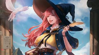 Anime, Fantasy, Girl, Witch, 4K, #4.627