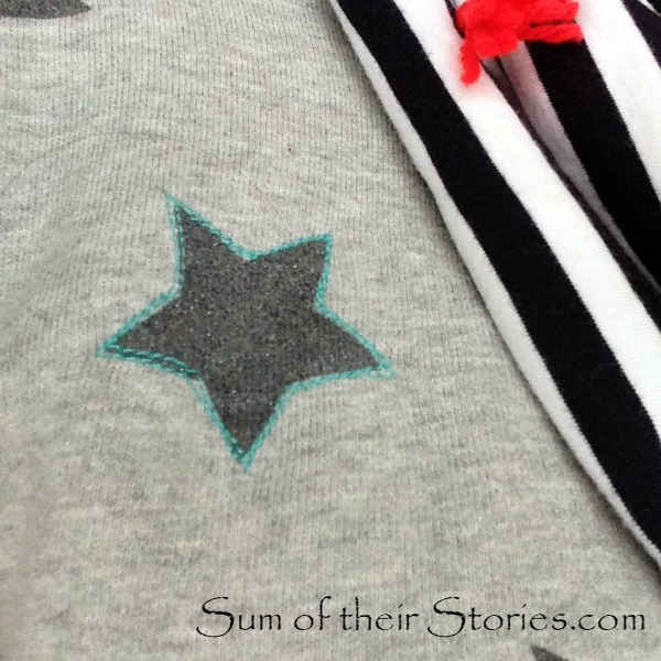 Star Stitched Sweatshirt refashion