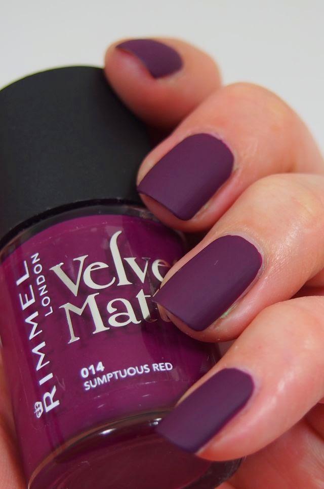 Did Someone Say Nail Polish Rimmel London Velvet Matte Sumptuous Red