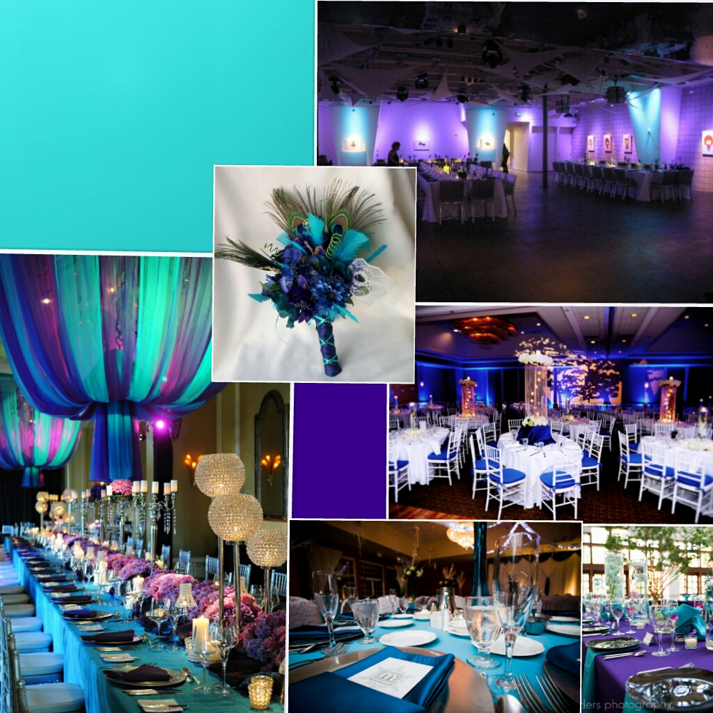 Turquoise And Purple Wedding Color Inspiration