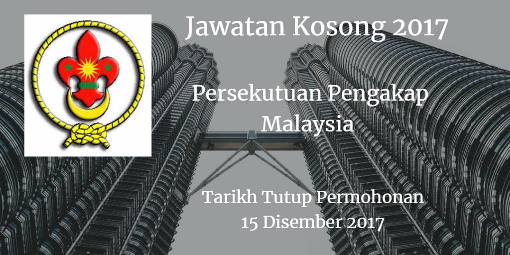 Jawatan Kosong Persekutuan Pengakap Malaysia 15 Disember 2017