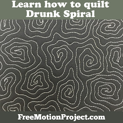 Learn how to quilt Drunk Spiral in a free quilting tutorial with Leah Day