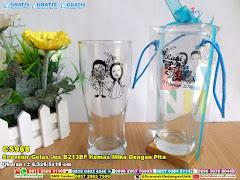 Souvenir Gelas Jus B213BF Kemas Mika Dengan Pita
