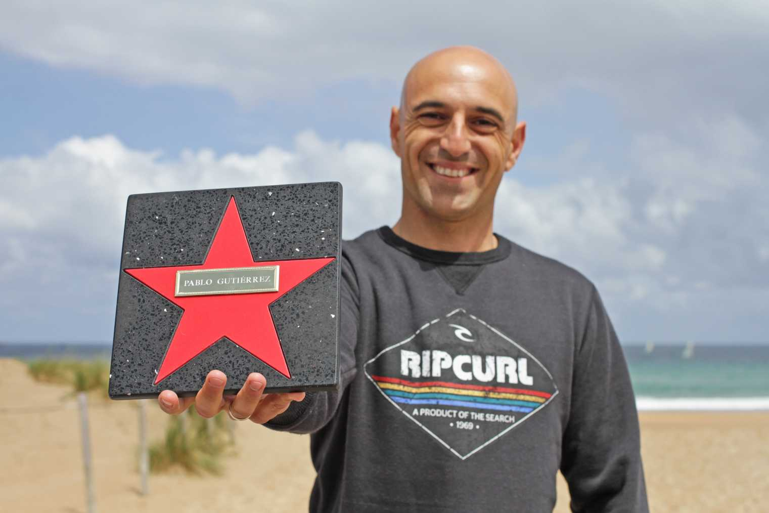 Inauguración paseo de las estrella del surf - Pablo Gutiérrez - Somo