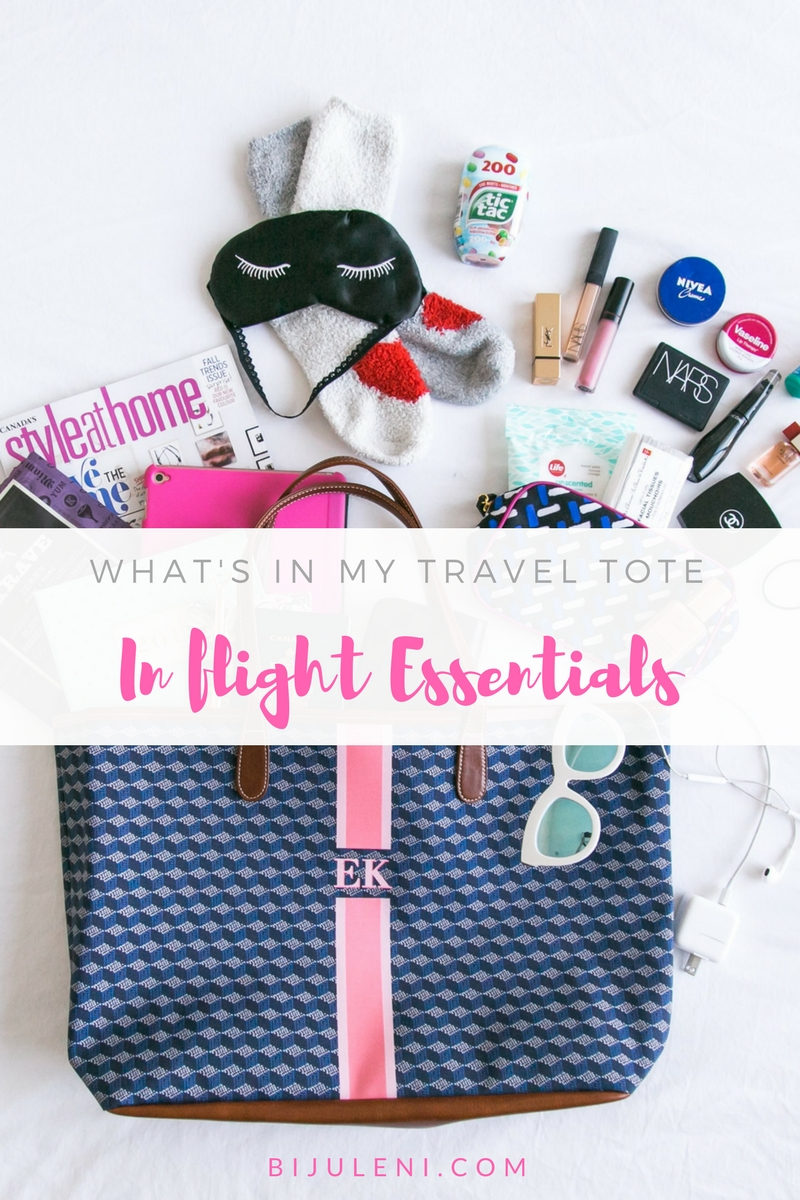 Bijuleni | What's In My Travel Tote - In flight Essentials