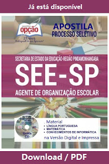Apostila Agente de Organização Escolar - SEE/SP