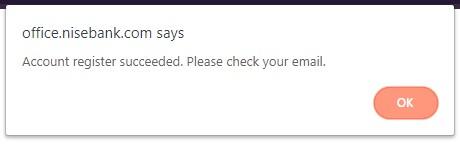 Web sẽ thông báo bạn đến email để nhận mã xác minh.
