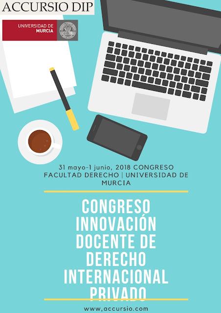 """Congreso: """"Innovación docente de Derecho Internacional Privado"""""""