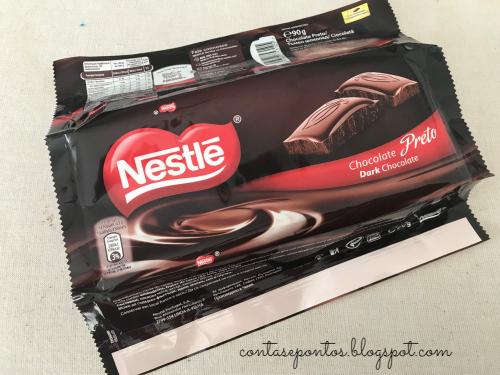estojo com embalagem de chocolate