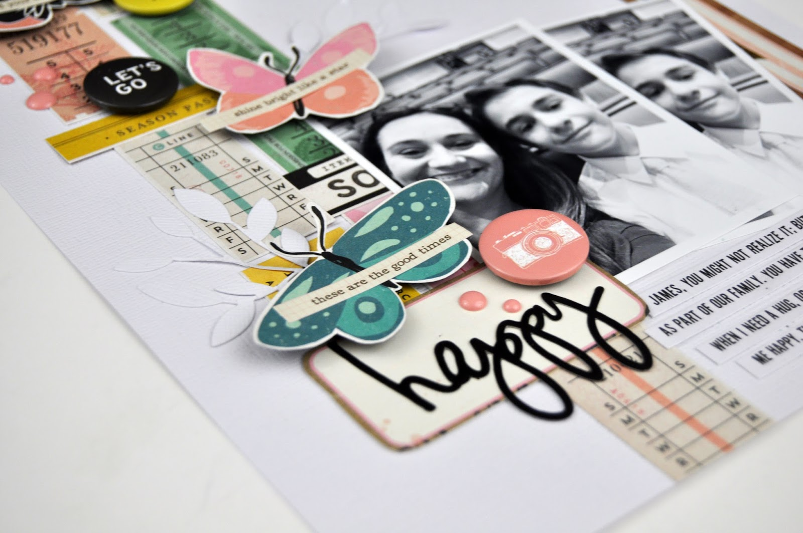Memories Made #61: Scrapbooking Process Video by www.jengallacher.com. Includes YouTube video. #scrapbooking #scrapbookprocess #jengallacher