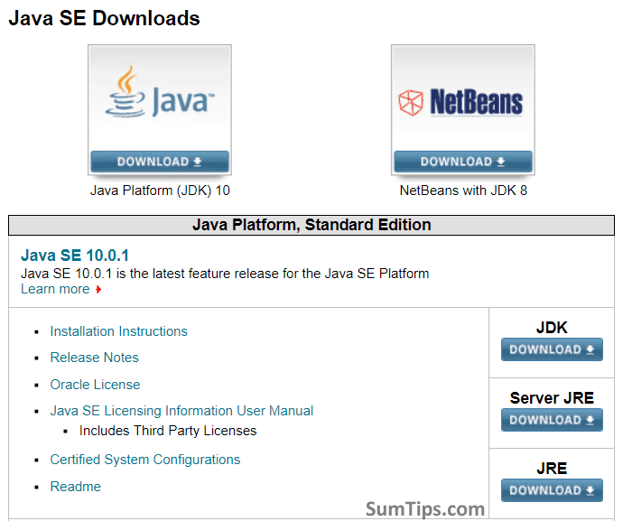 Download JDK