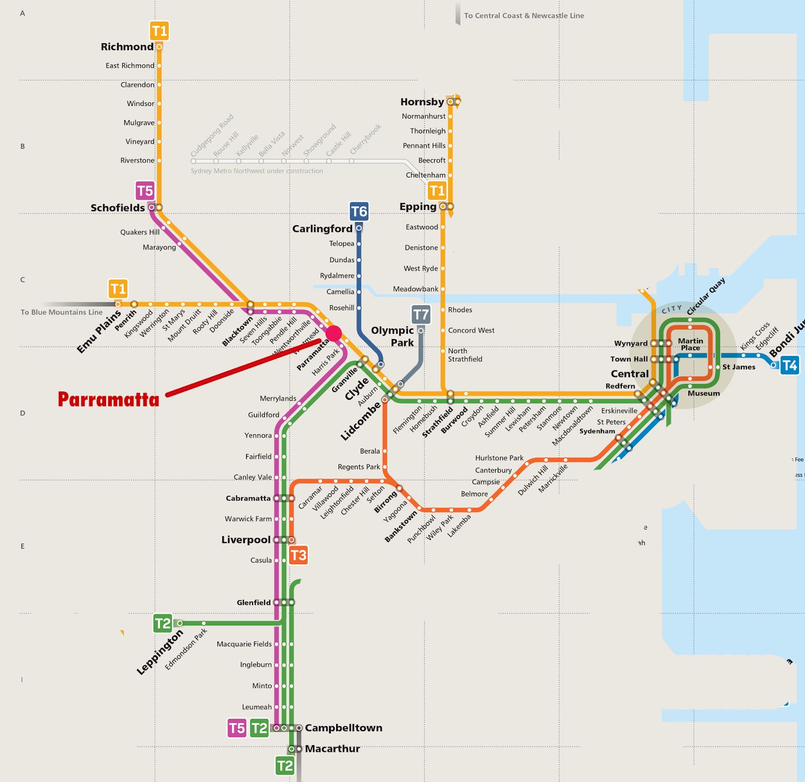 Best Image of Diagram Sydney Trains Network Map - Millions ...