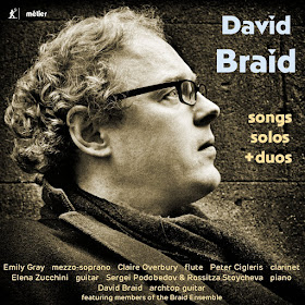 David Braid - songs, solos and duets - metier