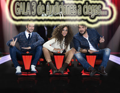 gala de terceras audiciones a ciegas de La Voz Kids 3