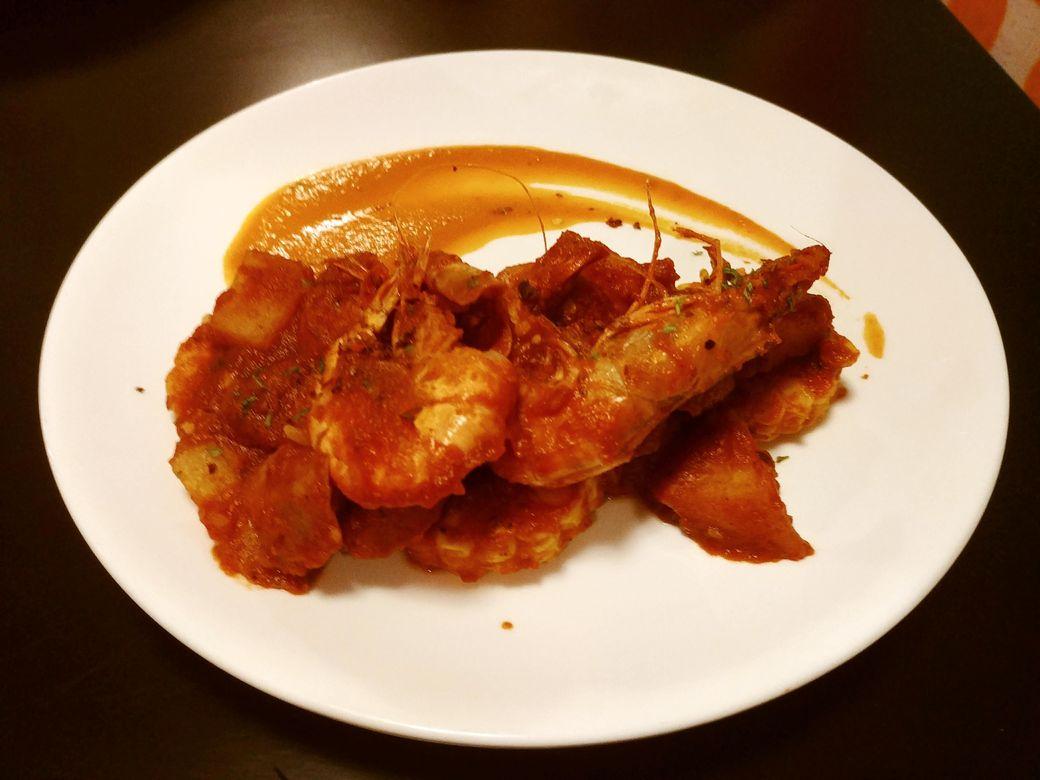 Y Café Spicy Shrimp and Sausage