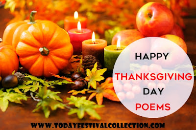 Happy Thanksgiving Day Poems for Family and Friends