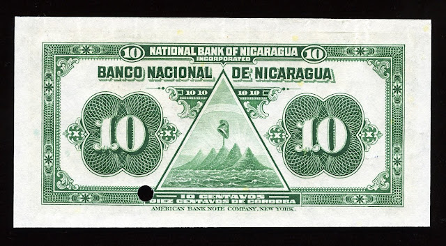 Nicaragua Fractional denomination note 10 Centavos