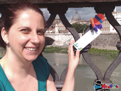Rosa alias Kreattiva con farfalla con scovolini