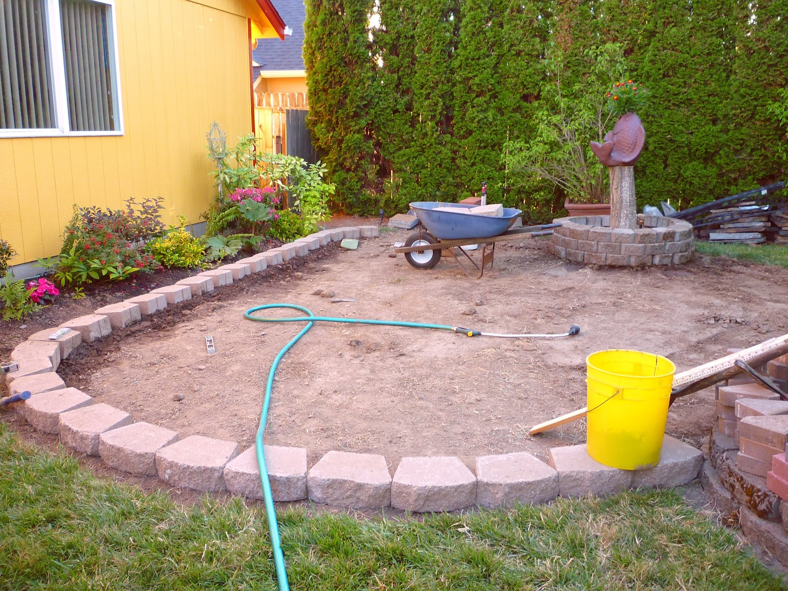 Wow, Thats A Busy Garden!: Creating A Paver And Pebble