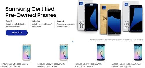 سامسونج بدأت بيع هواتف جالكسى المعاد تجديدها بالولايات المتحدة