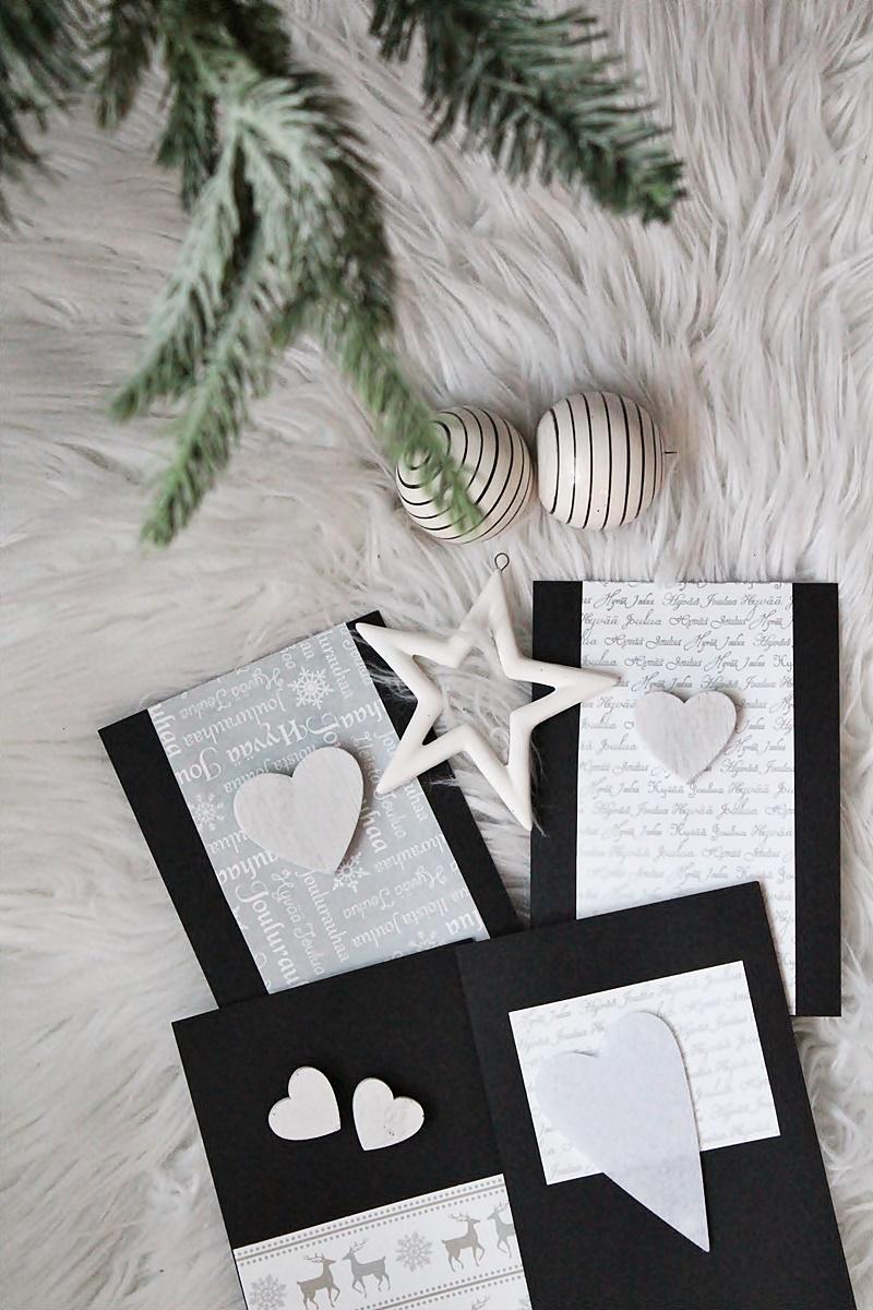 la dolce vita mustat joulukortit