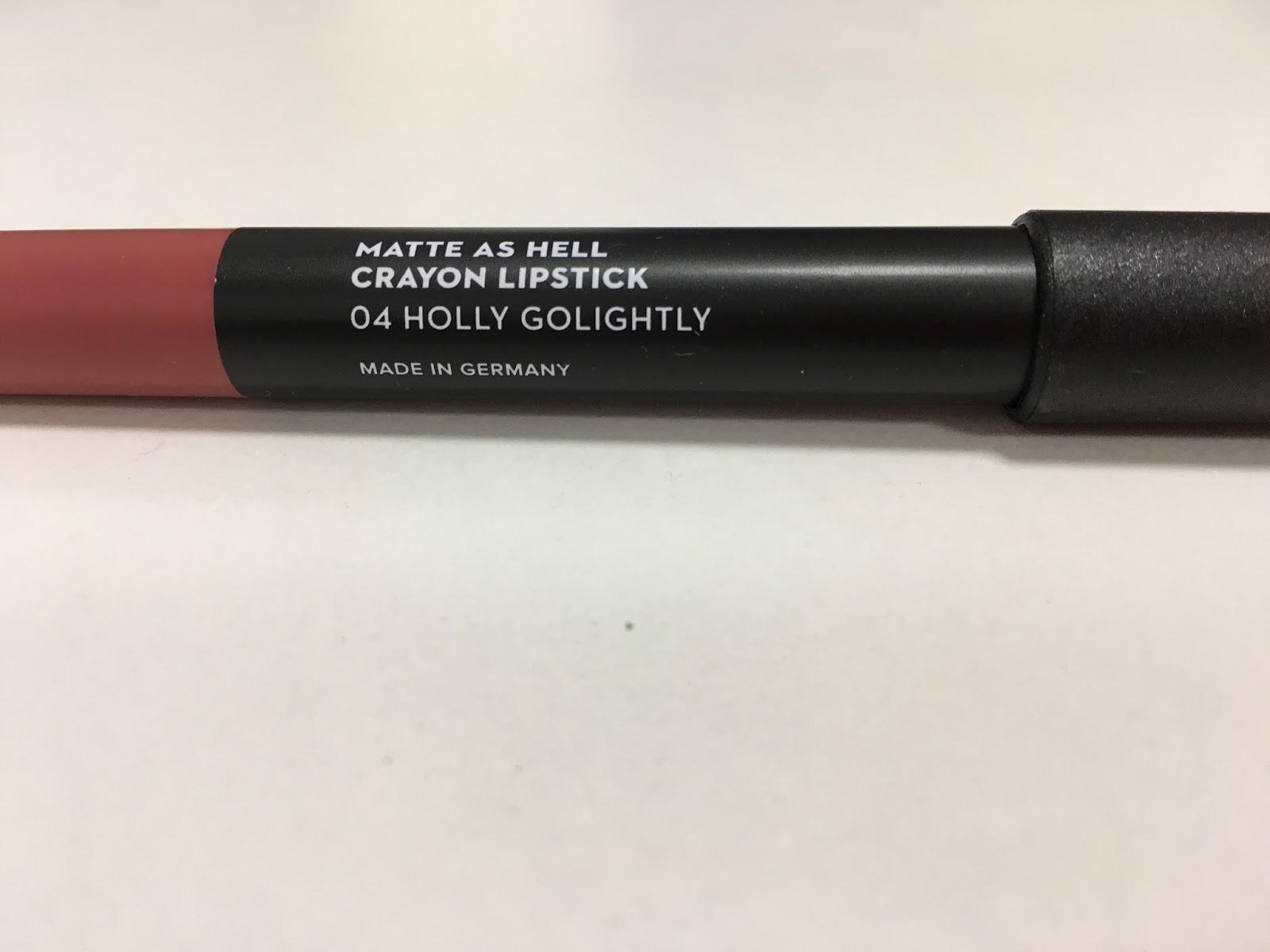 Sugar Matte As Hell Crayon Lipstick Holly Golightly Swatch