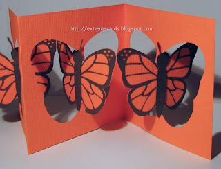 butterfly accordion flip pop up card