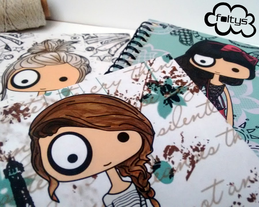 libretas ilustradas foltys   foltys illustrated notebooks (100% handmade with love)