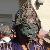 御霊神社の面掛行列