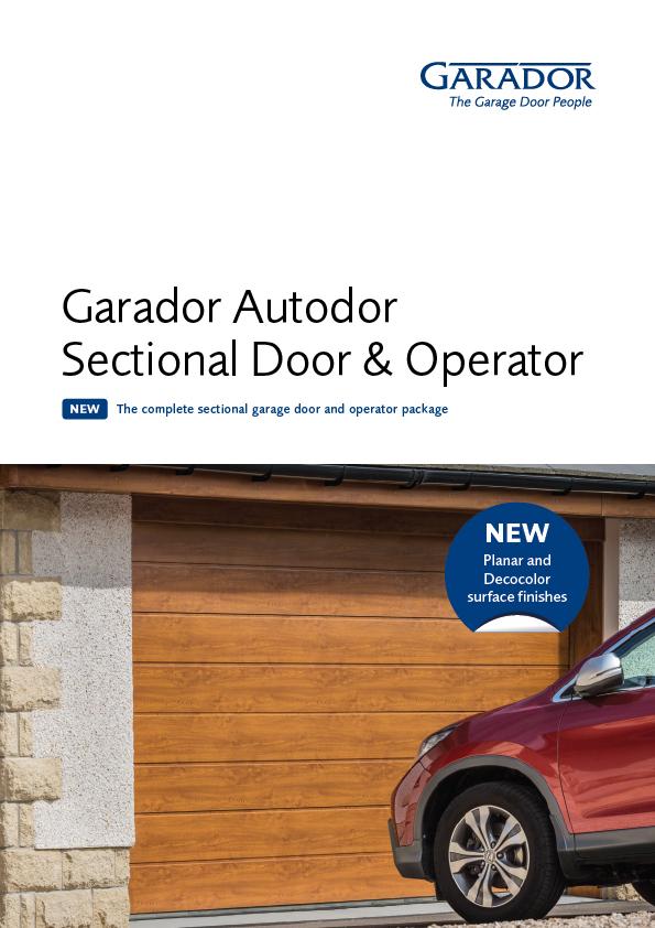 Garador Autodor sectional door and operator