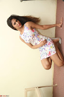 Nishi Ganda stunning cute in Flower Print short dress at Tick Tack Movie Press Meet March 2017 076.JPG
