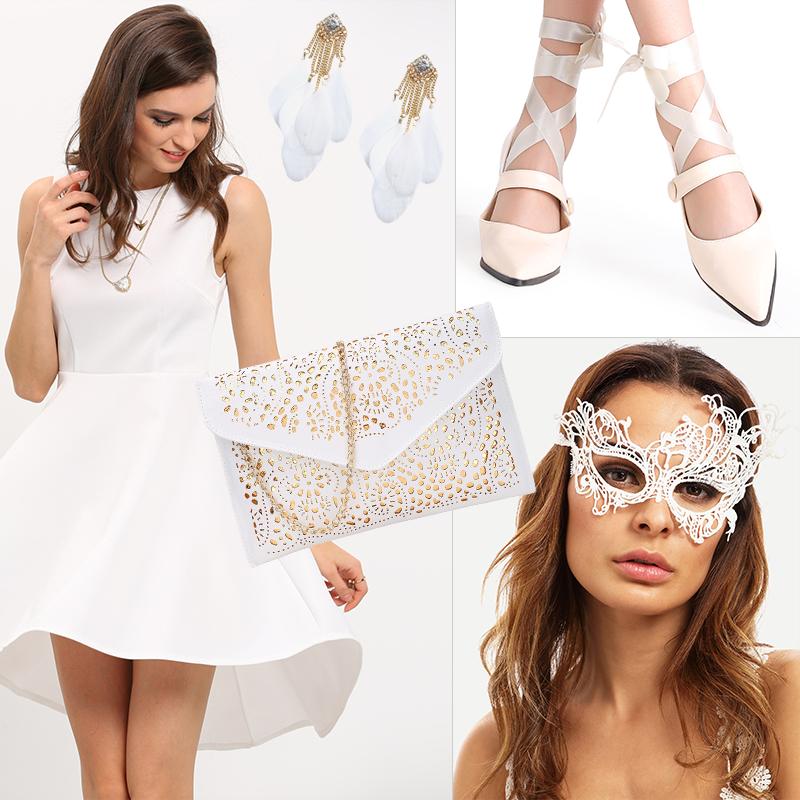 Fantasia de Cisne Branco Para o Carnaval