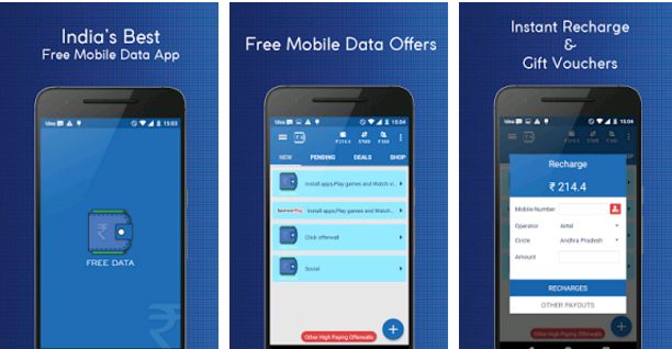 Free data app + per refer 368 rs per refer (must try )