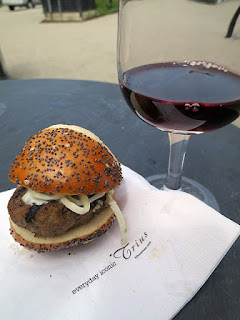 Lamb Slider with 2014 Trius Merlot