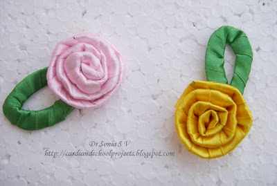 Cards Crafts Kids Projects Super Easy Ribbon Flower Tutorial