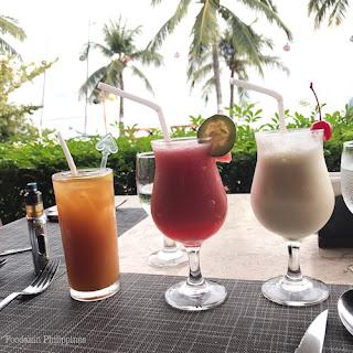 Bohol Brew, Watermelon Shake and Vanilla Shake at Bohol Beach Club