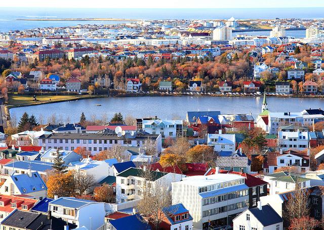 View from Halgrimskirjka, Reykjavik