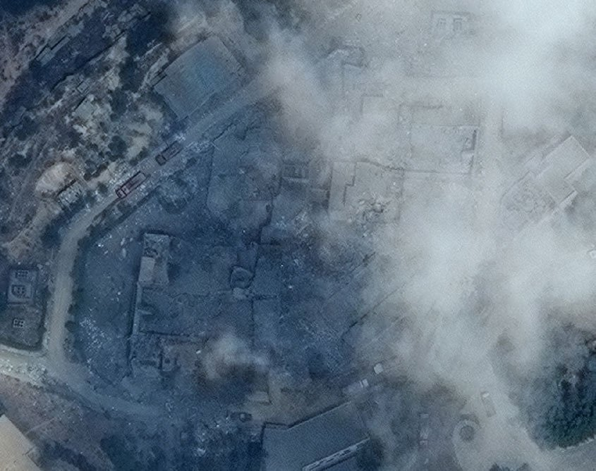 Центр исследований и разработок в Барзасе после ракетного удара