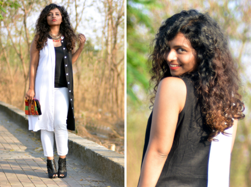 indian fashion bloggers foral wear work wear black and white looks