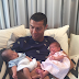 Cristiano Ronaldo shares first photo of his twins,a boy and girl