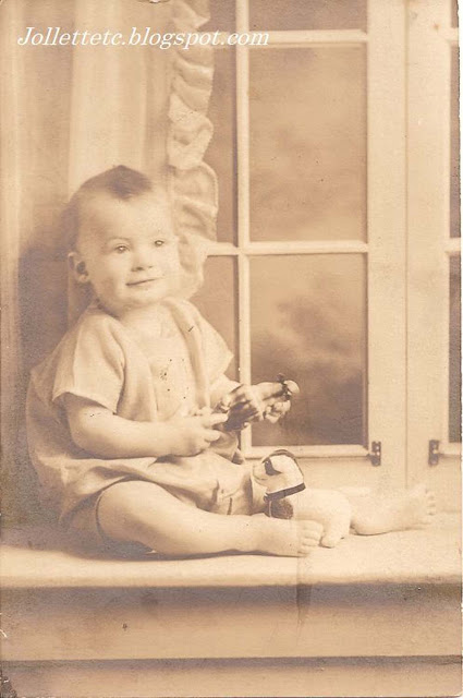 Unknown baby boy with toys in collection from Lucille Rucker Davis and Orvin Davis https://jollettetc.blogspot.com