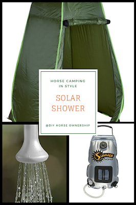 How to go Horse Camping: What to pack - Solar Shower