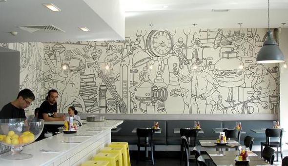 Desain Interior Dinding Cafe Yang Instagramable Dan Kekinian