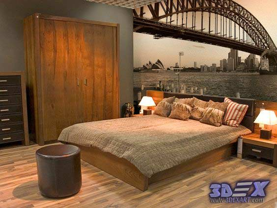 New 3d wallpaper designs for wall decoration in the home for Bedroom 3d wallpaper