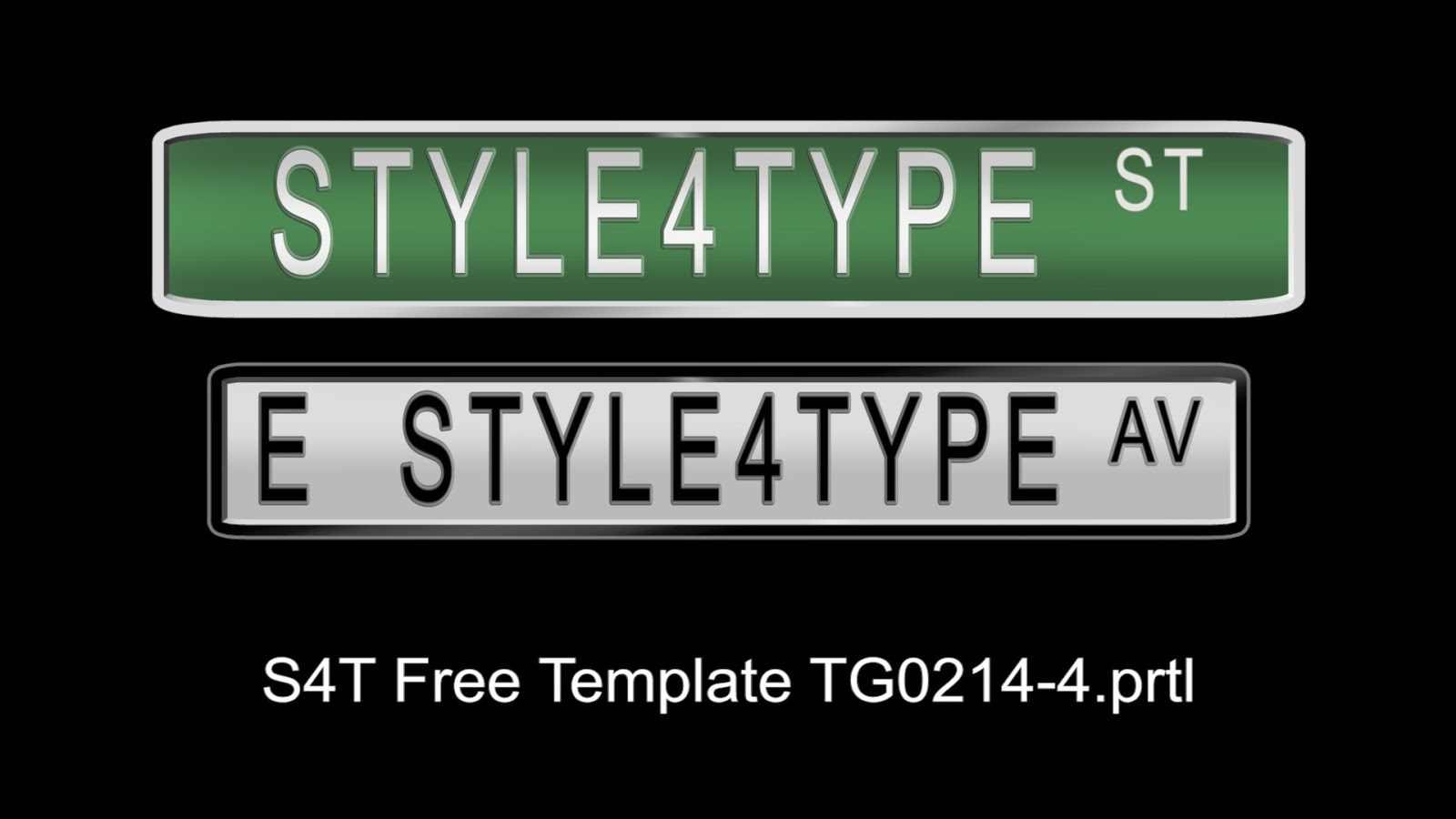style4type: Free S4T Premiere Pro Title Template: Street Signs