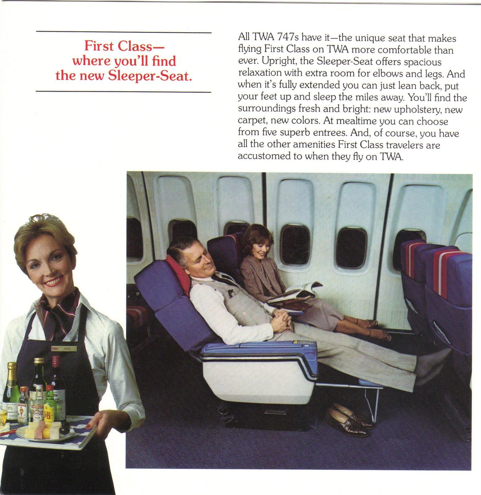 First Class Services First In Class: Airlines Past & Present: TWA Ambassador Class, First Class