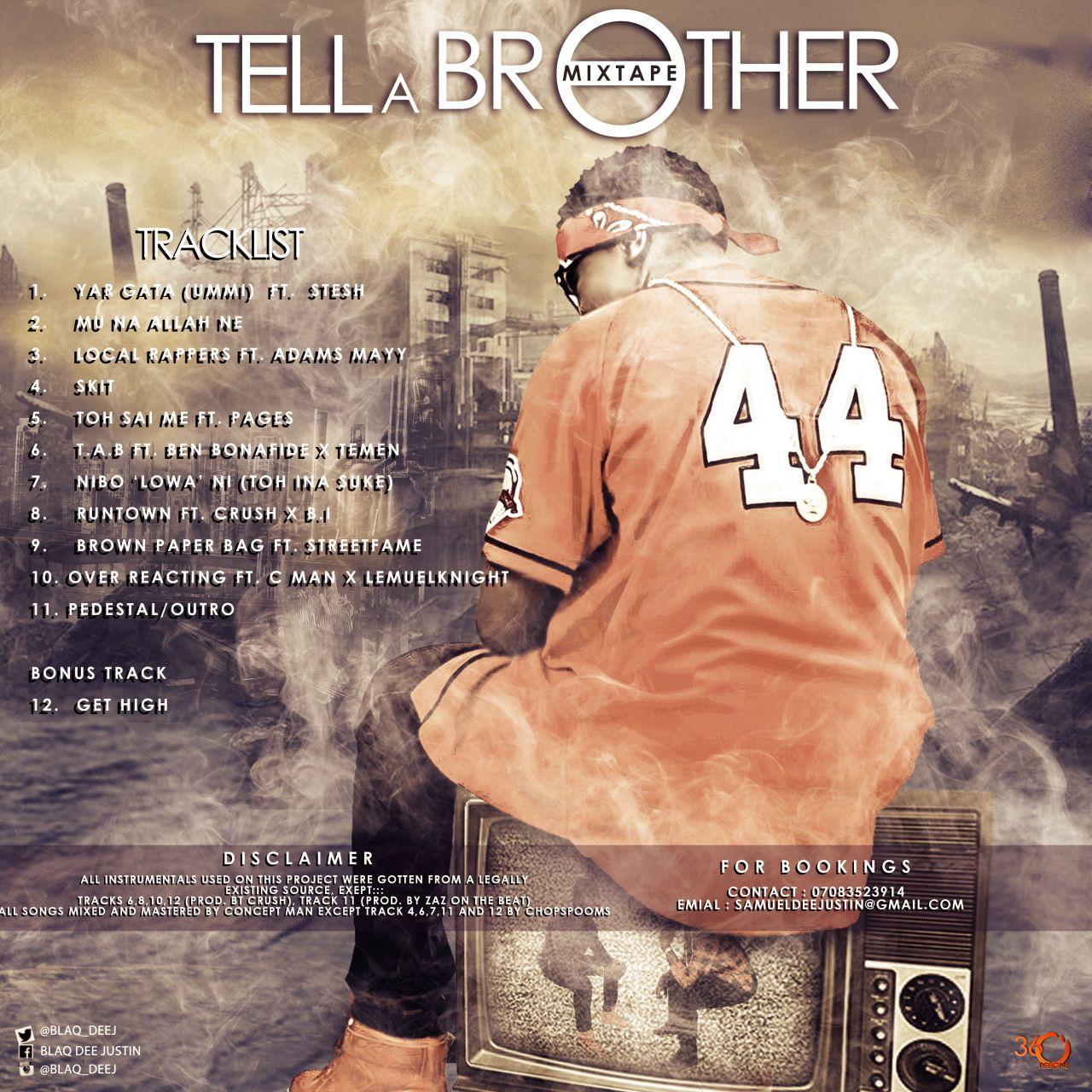 BLACK DEE. TELL A BROTHER www.beautifularewa.com