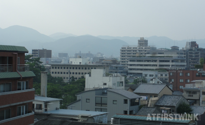 first city view kyoto mountains