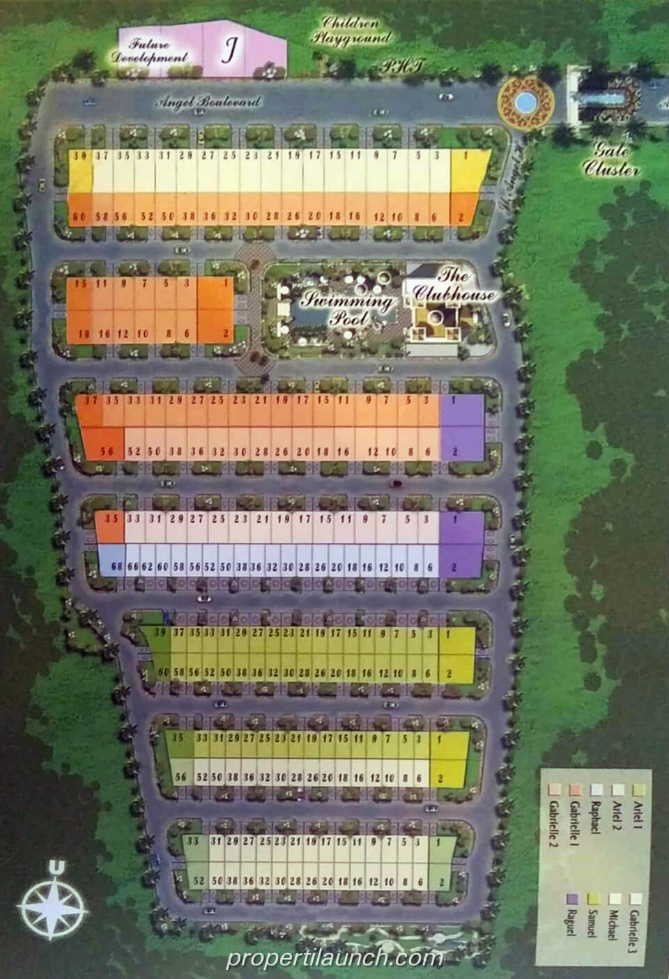 Site plan New Angel Residence Jakarta