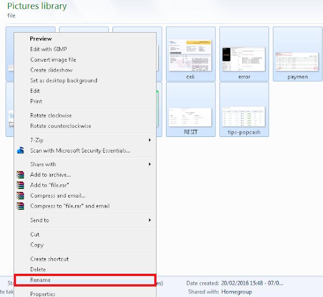 Cara Mengganti Nama (rename) Banyak File Sekaligus di Windows7